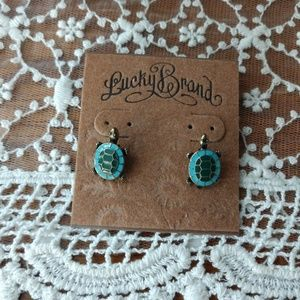 Lucky Brand Turtle Earrings Studs Adorable